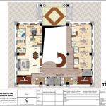 3 Mặt bằng công năng tầng lửng khách sạn tiêu chuẩn 4 sao tại an giang sh ks 0063