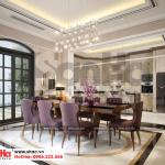 3 Thiết kế nội thất phòng bếp ăn biệt thự song lập khu đô thị vinhomes hải phòng vhi 0002