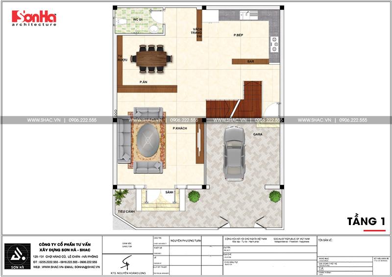 Thiết kế nhà phố cổ điển bán biệt thự 4 tầng có tầng hầm tại Lạng Sơn - SH NOP 0172 4
