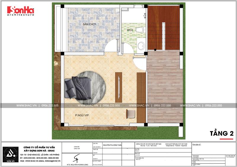 Biệt thự mini 2 tầng hiện đại diện tích 8x8m tại Hải Phòng - SH BTD 0067 6
