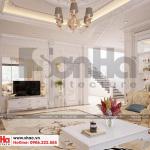 4 Mẫu nội thất phòng khách biệt thự tân cổ điển 2 mặt tiền tại quảng ninh sh btp 0127