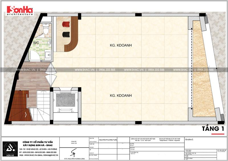 Thiết kế văn phòng cho thuê kiến trúc tân cổ điển tại Quảng Ninh - SH VP 0035 5