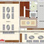 5 Mặt bằng công năng tầng 2 biệt thự hiện đại sân vườn đẹp tại thái bình sh btd 0068