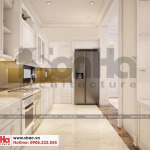 5 Thiết kế nội thất phòng bếp biệt thự tân cổ điển 3 tầng tại quảng ninh sh btp 0127