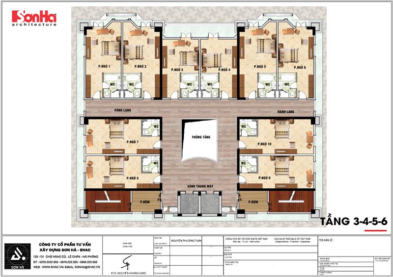 Khởi công khách sạn tân cổ điển 4 sao tại An Giang do SHAC thiết kế - SH KS 0063 9