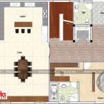 6 Mặt bằng công năng tầng 3 biệt thự hiện đại mặt tiền 12m tại thái bình sh btd 0068