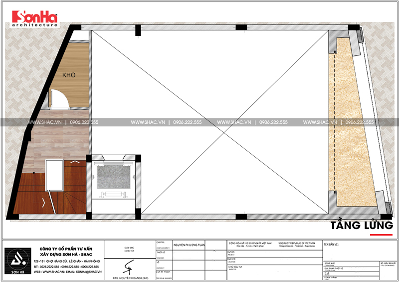 Thiết kế văn phòng cho thuê kiến trúc tân cổ điển tại Quảng Ninh - SH VP 0035 6