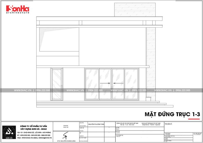Biệt thự mini 2 tầng hiện đại diện tích 8x8m tại Hải Phòng - SH BTD 0067 4