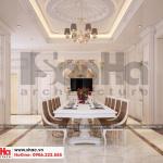 6 Mẫu nội thất phòng ăn biệt thự tân cổ điển tại quảng ninh sh btp 0127