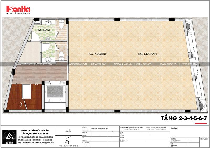 Thiết kế văn phòng cho thuê kiến trúc tân cổ điển tại Quảng Ninh - SH VP 0035 7