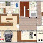 7 Mặt bằng công năng tầng 4 biệt thự hiện đại đẹp tại thái bình sh btd 0068