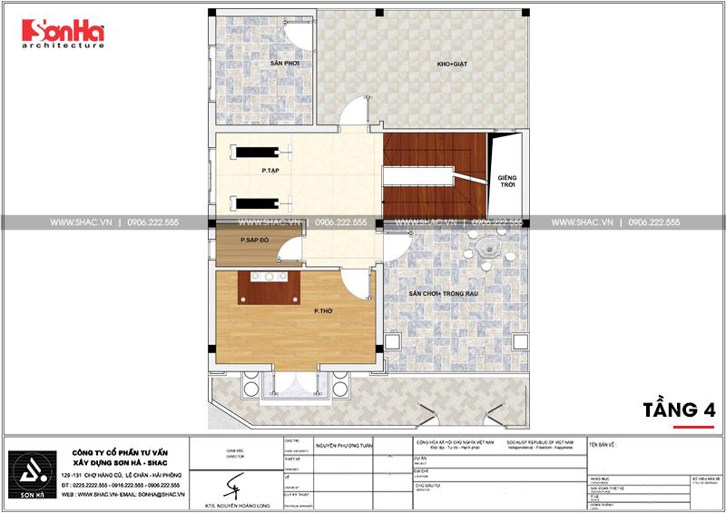 Thiết kế nhà phố cổ điển bán biệt thự 4 tầng có tầng hầm tại Lạng Sơn - SH NOP 0172 7