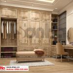 7 Thiết kế nội thất khu thay đồ phòng ngủ 1 biệt thự song lập khu đô thị vinhomes hải phòng vhi 0002