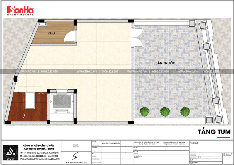 Thiết kế văn phòng cho thuê kiến trúc tân cổ điển tại Quảng Ninh - SH VP 0035 8