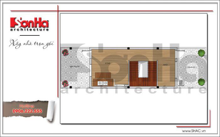 Bản vẽ mặt bằng nhà ống hiện đại 4 tầng kiến trúc hiện đại 4 tầng tại Hải Phòng