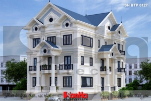BÌA thiết kế biệt thự tân cổ điển 2 mặt tiền tại quảng ninh sh btp 0127