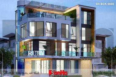 BÌA thiết kế nhà hàng hiện đại 4 tầng tại bắc ninh sh bck 0050