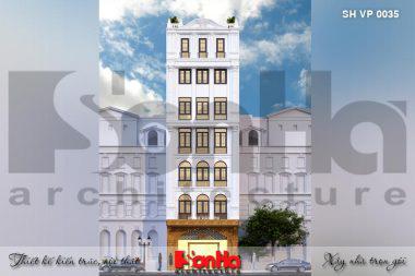 BÌA thiết kế văn phòng tân cổ điển 7 tầng tại quảng ninh sh vp 0035