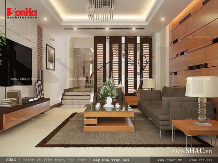 Cách phân chia không gian ảo giữa phòng khách và bếp liên thông hiệu quả