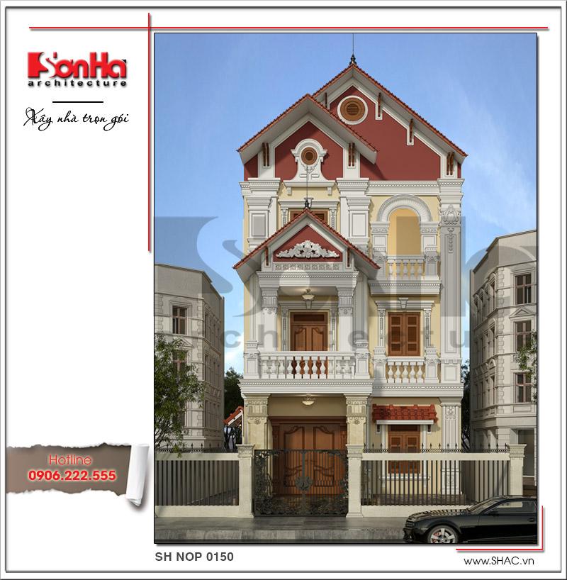 Cận cảnh các đường nét tinh tế làm nên mặt tiền 8m đẹp cho ngôi nhà phố cổ điển