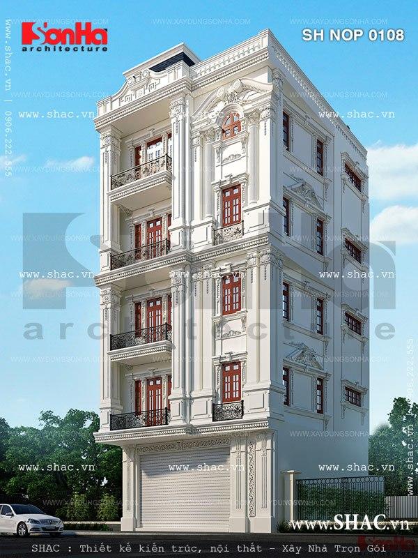 Kiến trúc mãn nhãn của mẫu thiết kế nhà đẹp là tham khảo mẫu nhà ngang 8m