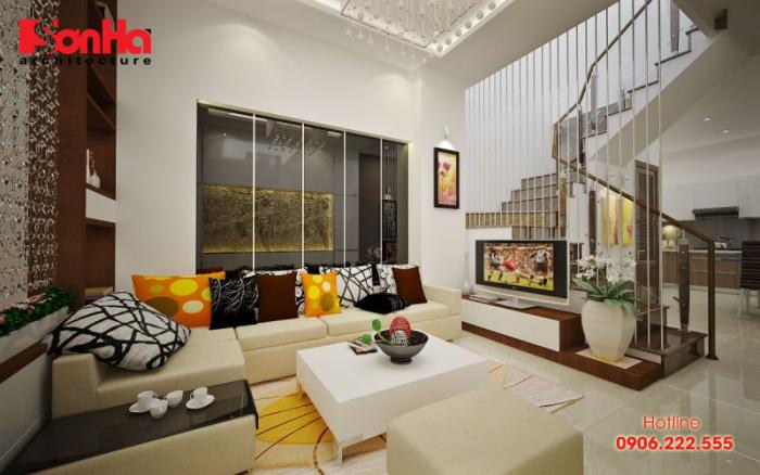 Mẫu phòng khách đẹp phong cách thiết kế nội thất hiện đại