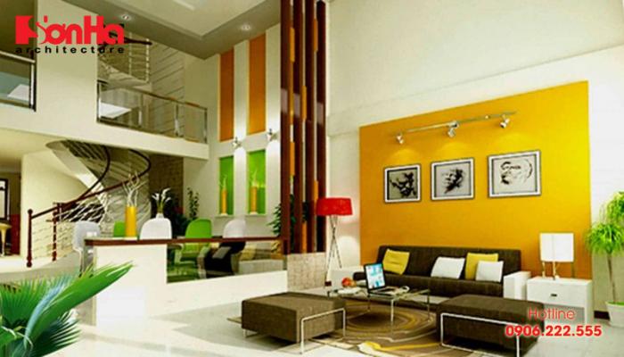 Mẫu phòng khách màu vàng chanh hút mắt và dễ dàng hạ gục mọi ánh nhìn