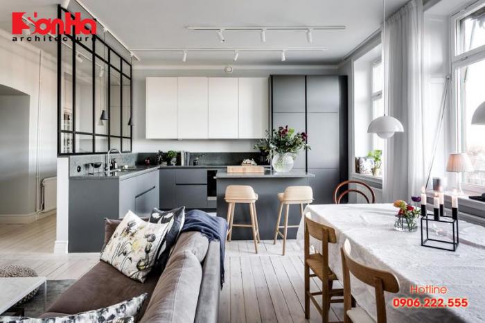 Nội thất căn hộ được thiết kế theo phong cách Bắc Âu sang trọng