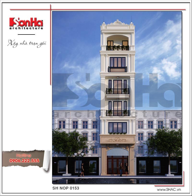 Thêm một mẫu thiết kế nhà ống kiến trúc Pháp có thang máy tại Quảng Ninh