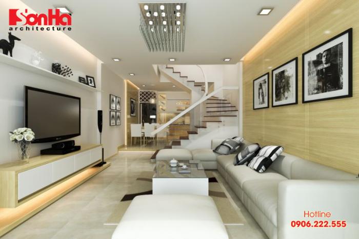 Thêm một tham khảo về thiết kế phòng khách có cầu thang nhà ống