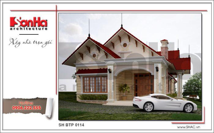 Thiết kế ấn tượng và đẹp mắt của mẫu biệt thự mini 1 tầng kiểu Pháp sang trọng