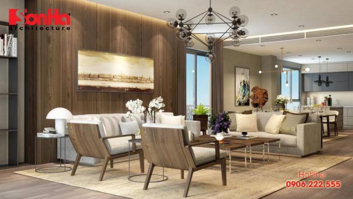 Thiết kế nội thất phòng khách đẹp phong cách tối giản Minimalism