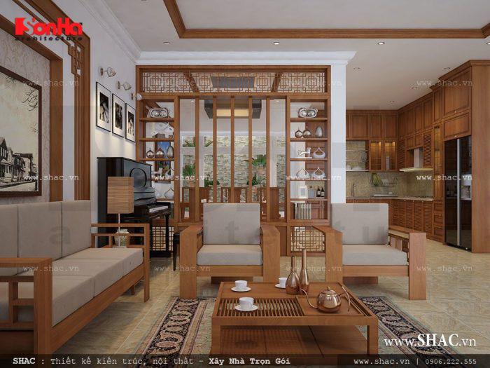 Thiết kế phòng khách liên thông nhà bếp và những lưu ý quan trọng