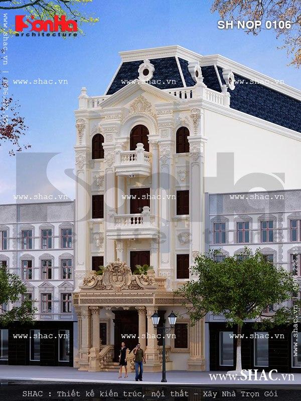 Từ mọi góc đặt mắt thiết kế của ngôi nhà phố kiểu Pháp này đều ấn tượng