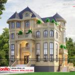1 Thiết kế biệt thự tân cổ điển đẹp 4 tầng tại hà nội sh btp 0129