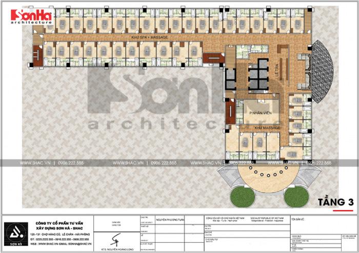 10 Mặt bằng công năng tầng 3 trung tâm phức hợp thương mại khách sạn 5 sao tại đồng tháp sh ks 0064
