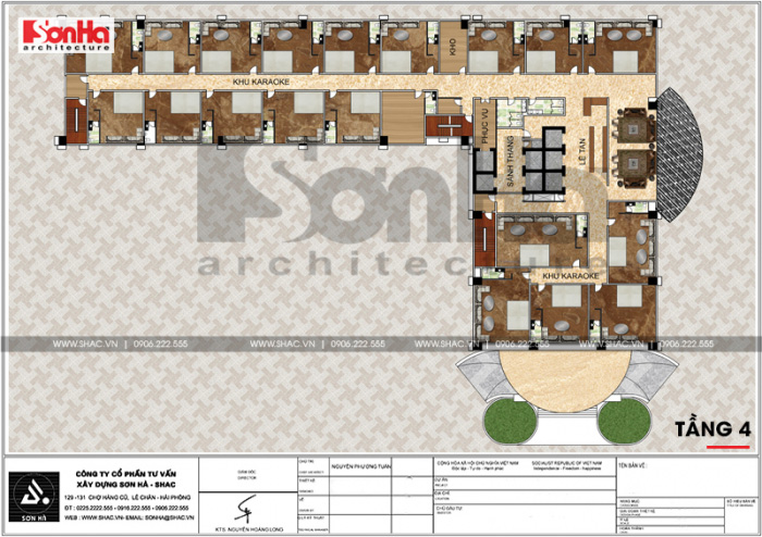 11 Mặt bằng công năng tầng 4 trung tâm phức hợp thương mại khách sạn 5 sao tại đồng tháp sh ks 0064