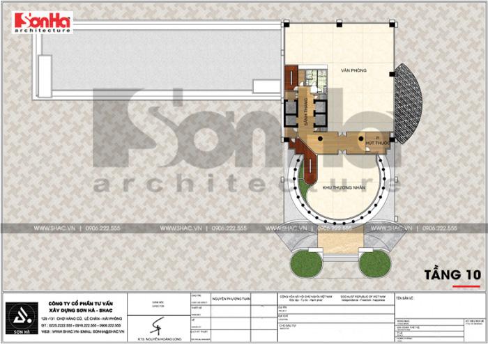14 Mặt bằng công năng tầng 10 trung tâm phức hợp thương mại khách sạn 5 sao tại đồng tháp sh ks 0064