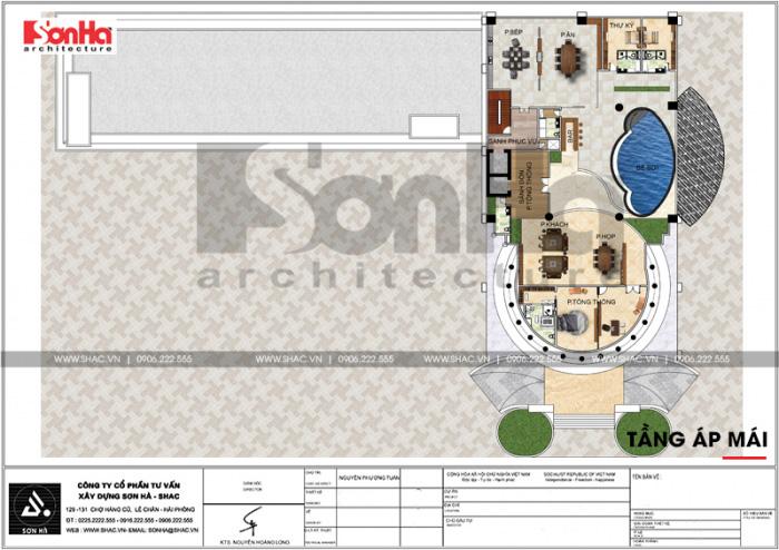 16 Mặt bằng công năng tầng áp mái trung tâm phức hợp thương mại khách sạn 5 sao tại đồng tháp sh ks 0064