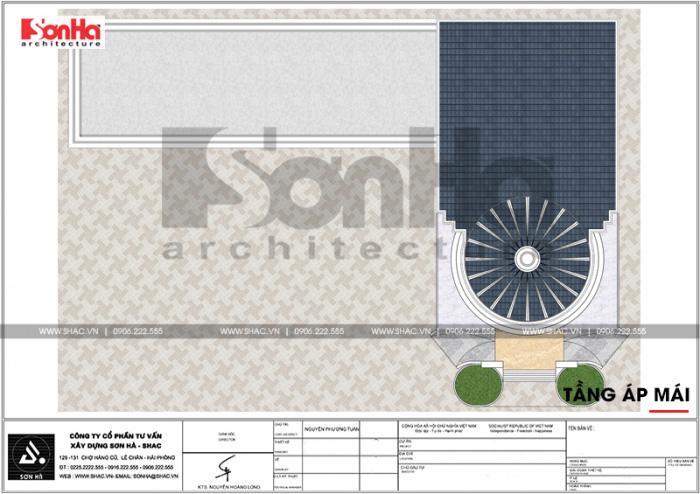 17 Mặt bằng công năng tầng mái trung tâm phức hợp thương mại khách sạn 5 sao tại đồng tháp sh ks 0064