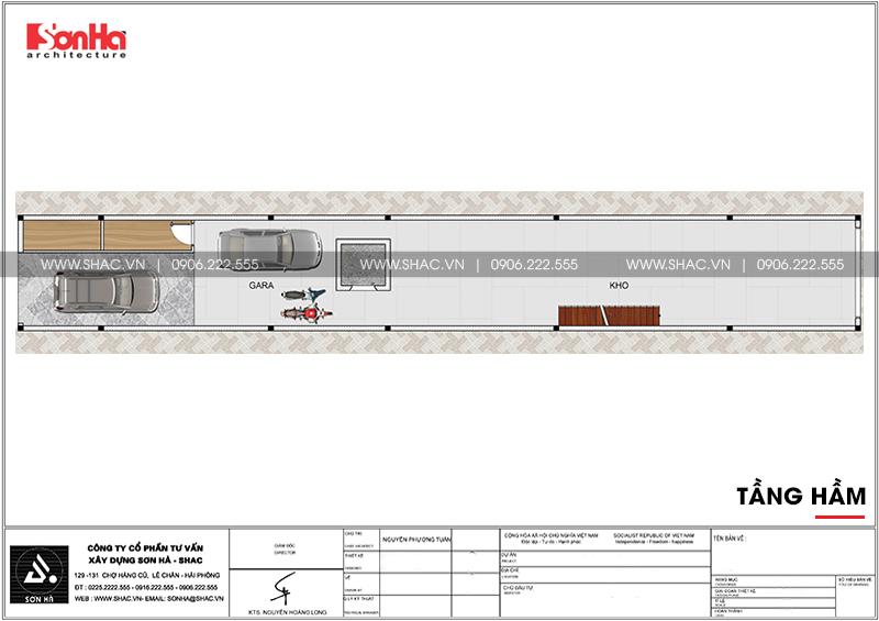 Mẫu thiết kế nhà ống cổ điển 5 tầng mặt tiền 4m8 tại Sài Gòn – SH NOP 0178 3
