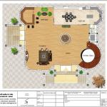 5 Mặt bằng công năng tầng 1 biệt thự tân cổ điển 2 mặt tiền tại hà nội sh btp 0129