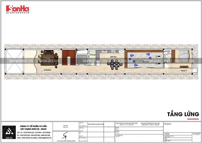 Mẫu thiết kế nhà ống cổ điển 5 tầng mặt tiền 4m8 tại Sài Gòn – SH NOP 0178 6