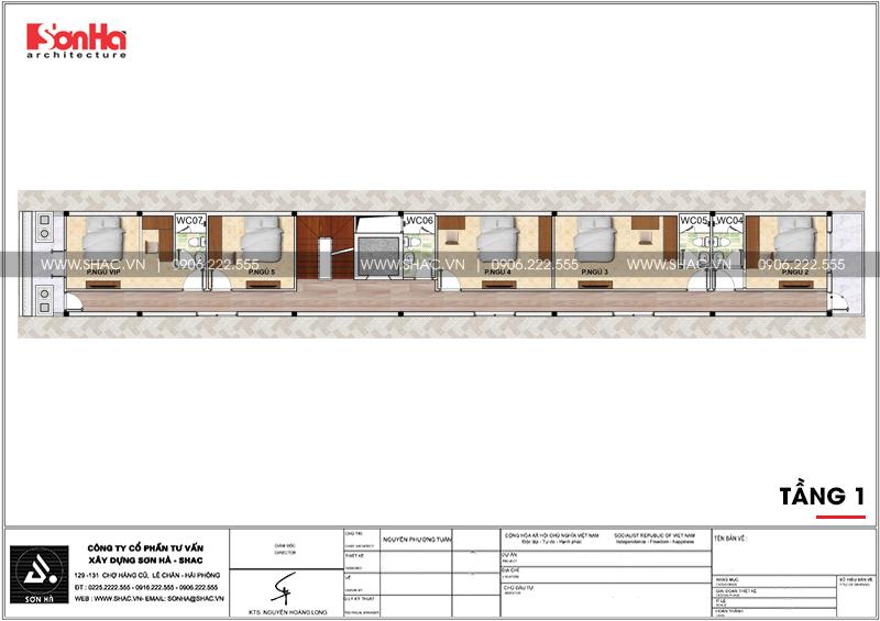 Mẫu thiết kế nhà ống cổ điển 5 tầng mặt tiền 4m8 tại Sài Gòn – SH NOP 0178 5