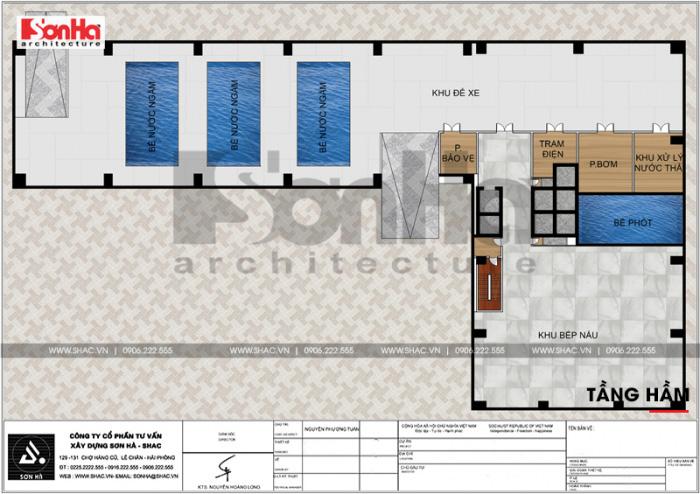 7 Mặt bằng công năng tầng hầm trung tâm phức hợp thương mại khách sạn 5 sao tại đồng tháp sh ks 0064