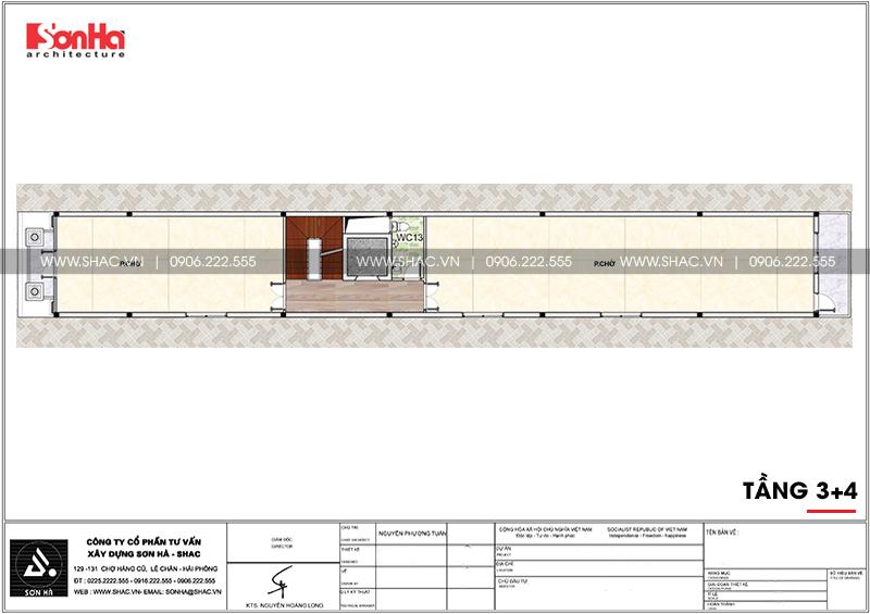 Mẫu thiết kế nhà ống cổ điển 5 tầng mặt tiền 4m8 tại Sài Gòn – SH NOP 0178 8