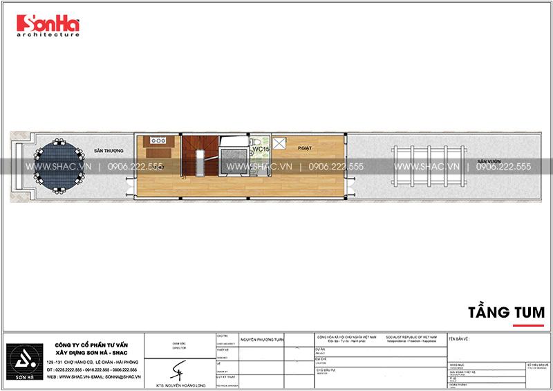 Mẫu thiết kế nhà ống cổ điển 5 tầng mặt tiền 4m8 tại Sài Gòn – SH NOP 0178 9