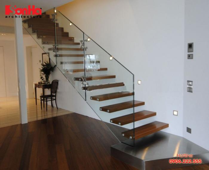 Cách bố trí các bước cầu thang hiện đại cho nhà ống đẹp mắt