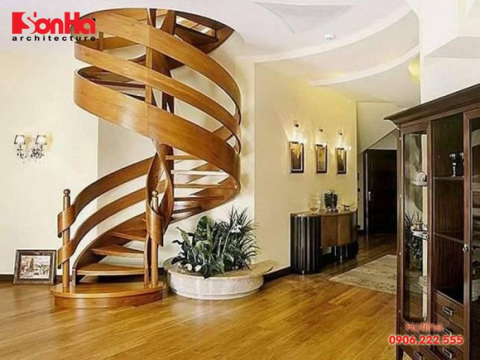 Cách chia bậc cầu thang xoắn ốc đảm bảo an toàn và thẩm mỹ