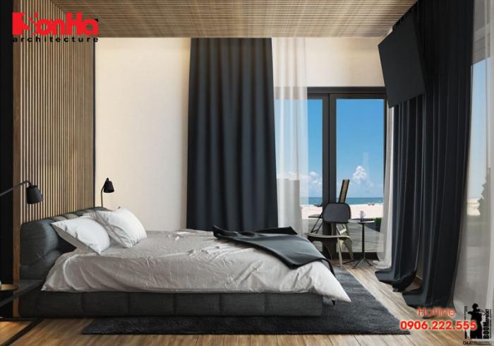 Cách sắp xếp phòng ngủ diện tích nhỏ phong cách hiện đại phong thủy